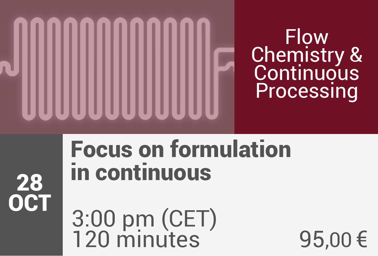 Focus on Formulation in Continuous